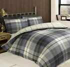 Lewis Check Blue Tartan Squares Single Double King Bedding Duvet Quilt Set