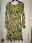 EUC Sunny Leigh Multi Color Dress Size Large Women's