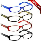 NEW Reading Glasses | 4 Pack Readers | Black Blue Tortoise Red | Flex Hinges