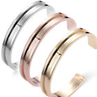 New Hot 1Piece Womens Alloy Silver Gold High Quality Opening Bangle Bracelet Lot