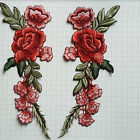 2 x Embroidery Rose Flower Sew On Patch Badge Hat Jeans Bag Dress Applique Craft фото