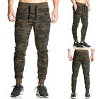 Mens Cargo Trousers Sport Long Designer Army Combat Pants Tracksuit Baggy Camo