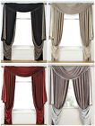 FAUX SILK REVERSIBLE SLOT TOP SUMPTUOUS CURTAINS WITH INTRICATELY BEADED EDGING