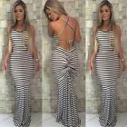 Long Casual Women  Boho Maxi  Evening Party Beach Dress Cocktail Sundress Summer