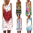 Fashion Hot Women Vintage Sundress Sleeveless Bodycon Casual Cocktail Mini Dress