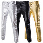 New Men's Pants Casual Gilding Solid Long Pants Slim Sport Pants Trousers