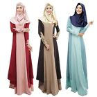 Long Sleeve Maxi Islamic Kaftan Abaya Muslim Cocktail Party Dress (No Hijabs)