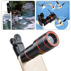 Clip-on 12x Optical Zoom HD Telescope Camera Lens For Universal Mobile Phone HOT