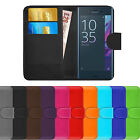 Premium Luxury Leather Flip Wallet Book Case Cover For Sony Xperia Phone Models