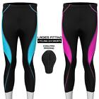 New Women Cycling 3/4 Tights Shorts Padded Leggings with Coolmax Anti Bac Pad