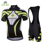 Mens Cycling Short Sleeve Jersey Shorts Kits Bicycle Riding Shirt Tights Pad Set
