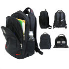 "Galaxy Men's 17"" Black Padded Laptop Backpack - Bookbag for School & Travel"