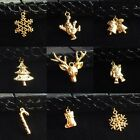 Golden CHRISTMAS Tattoo Choker Stretch Necklace Pendant Henna Vintage Elastic