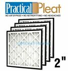 "Practical Pleat 2"" Return Grille Filter - 4 Pack - MERV 8 - Choose Size"