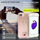 With Ring Holder For Apple iPhone 6s 7 Plus LED Light Up Selfie Case Cover Power