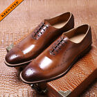 mens fashion brogues lace-up dress shoes leather formal shoes oxfords size 43 38