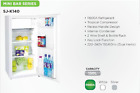 Sharp 130L RW Free Standing 130 L Fridges 2 Wire Shelf &amp; Bottle Rack Japan made <br/> High Quality With 2 Years Guarentee