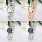 Hot Sale Woman Gold Lot Loop Connect Band Analog Quartz Round Alloy Wrist Watch