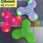 1 LED Fidget Spinner with Bluetooth Speaker Hand Spinner Toy EDC for Kids Alduts