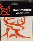 5 New in package Bushmaster window decals - outdoor/hunting/fishing - Orange