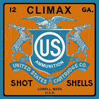 Reproduced Vintage U.S. Ammo Climax Shell Box Label on Graphic Canvas