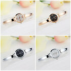 Womens Round Lady Quartz Bracelet Watch Multicolor Fine Band Analog Wristwatch