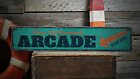 Arcade, Custom Beach Boardwalk Location - Rustic Distressed Wood Sign ENS1001357