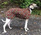 """WHIPPET THIN FLEECE COAT / JUMPER ,PJ'S   WITH BELLY PANEL  16''+26""""  NEW."""