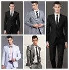 Mens Formal Suit Wedding Groom Bestman One Button Slim Fit Suits Wedding Party