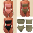 UK Women's Bandage Bra Bikini Set Push-up Swimsuit High Waist Bathing Swimwear