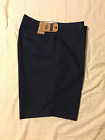 DOCKERS D2: Men Classic Trouser Style Casual Shorts, Flat Front: Navy, 40W