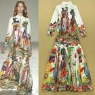 Womens Ruway Long Sleeve Embroidered Floral Graffiti Vintage Maxi Long Dresses
