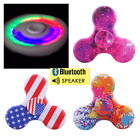 Bluetooth Speaker LED Fidget Hand Spinner Metal Bearing Finger EDC Gyro Colorful