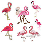 Flamingo Embroidered Iron On Sew On Applique Fabric Bird Animals Patch Badge