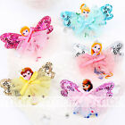 1PC Mixed Color Cartoon Princess Design Hair Clip Accessories For Girls Babies