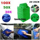 30/50/100X Absorbent Wash Cloth Car Auto Care Microfiber Cleaning Towels Cloths