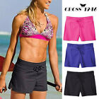 Women Summer Plain Swim Shorts Bikini Swimwear Boy Style Short Brief Bottoms FO