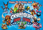 "Edible SKYLANDERS Trap Team A4 or 7.5"" Round Birthday Cake Cupcake Icing Toppers"