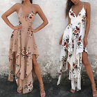 Womens Floral Evening Cocktail Party Dress Ladies Sleeveless Long Maxi Dress M1