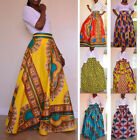 Women Skirt Traditional African Print High Waist Beach Party Long Maxi Dress NEW