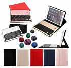 Colourful Backlit Aluminium Bluetooth Keyboard Stand Leather Case Cover For iPad