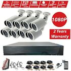 CCTV 8CH HD 2.4MP 1080P OUTDOOR Home Surveillance Security Cameras System Kit