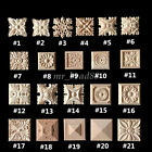 Внешний вид - Wood Carved Square Onlay Applique Unpainted Flower Home Furniture Decor Lots New