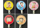 BETTY BOOP Retractable Reel ID Card Badge Holder/Key Chain/Security Ring $10.86 USD
