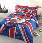 BRITISH BULLDOG PUG DUVET QUILT COVER BEDDING SET SINGLE DOUBLE KING COTTON RICH