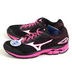 Mizuno Wave Rider 20 D Black/White/Pink Sports Wide Running Shoes J1GD170608
