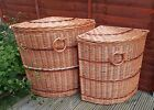Wicker Corner Laundry Bin Basket Brown Bathroom Laundry Storage Lid Hamper