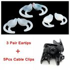 3 Pair Eartips + 5pcs Clip For Bose In-ear Earphones Headset IE3 IE2 MIE2I SIE2