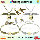 Harry Potter Golden Snitch Bracelet Necklace Earrings Charm Silver Bronze Gift