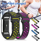 Breathable Silicone Strap Replace Sport Watch Band Bracelet For Fitbit Charge 2
